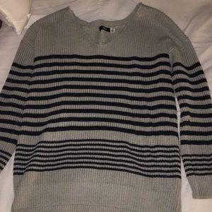 BDG grey/black striped knit sweater
